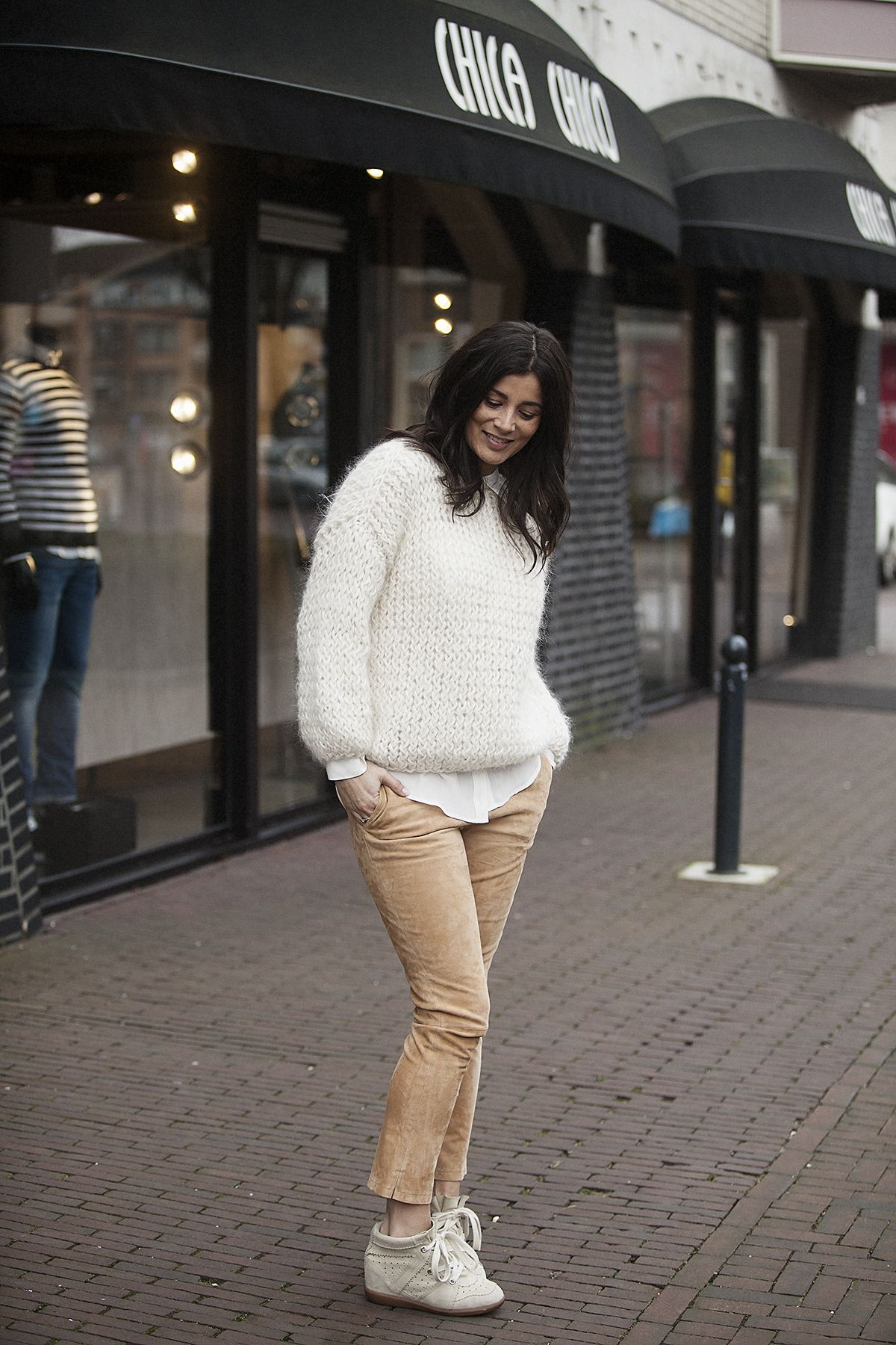 BlogForShops wearing Kiro by Kim handknitted sweater