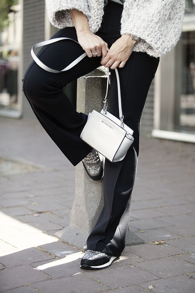 streetstyle 2015 BlogForShops pairing flares with sneakers wearing Kiro by Kim Michael Kors ByDanie