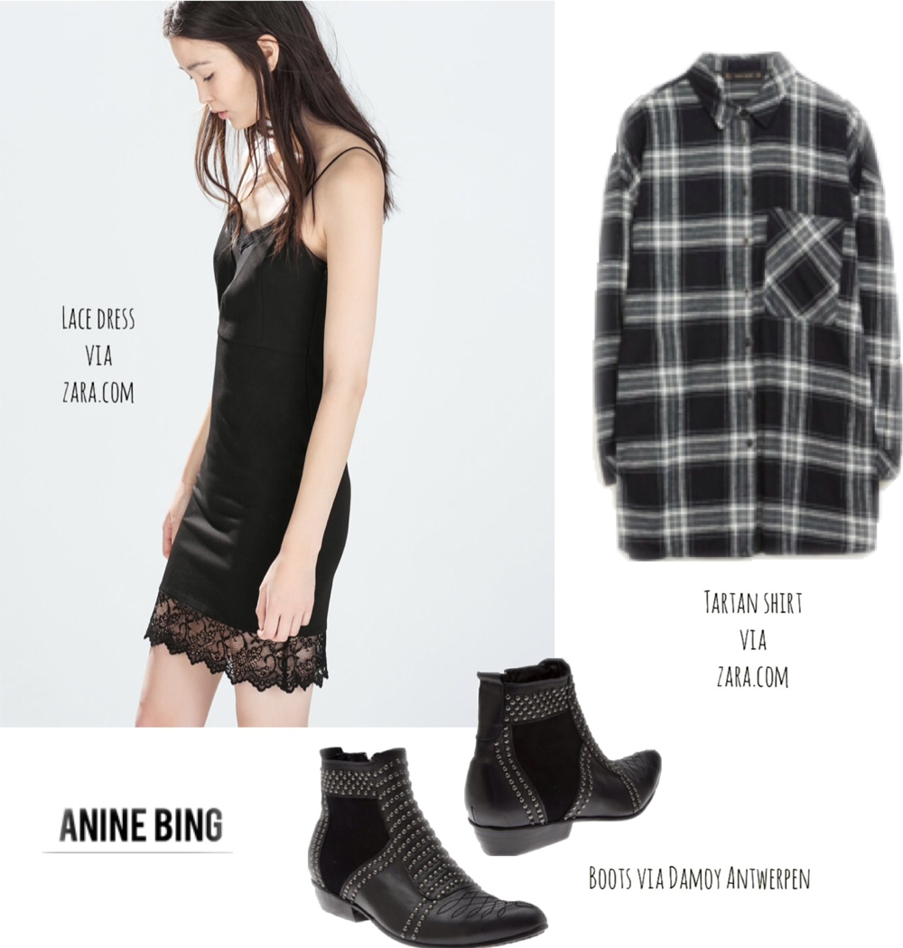 What I was wearing last Christmas BlogForShops Anine Bing studded boots grey black