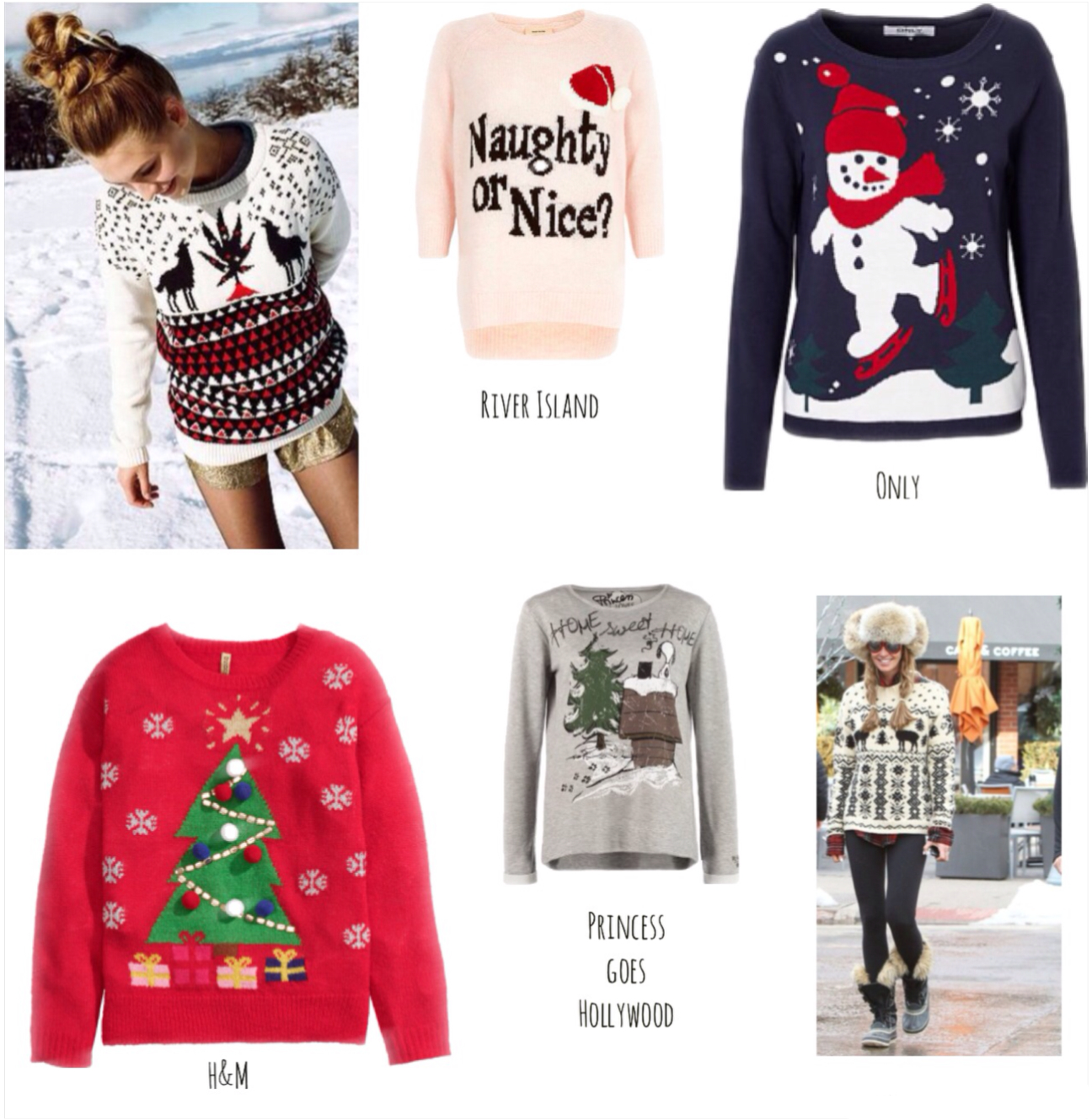 streetstyle Christmas sweaters online shopping blogforshops