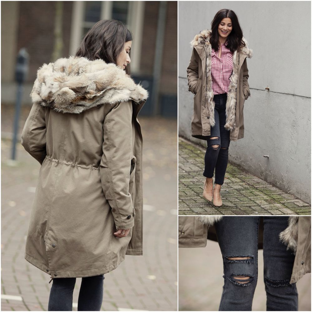 Streetstyle fall winter BlogForShops for Chica Chico Veghel, How to wear your Woolrich winter parka