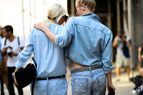 streetstyle shot inspiration double denim
