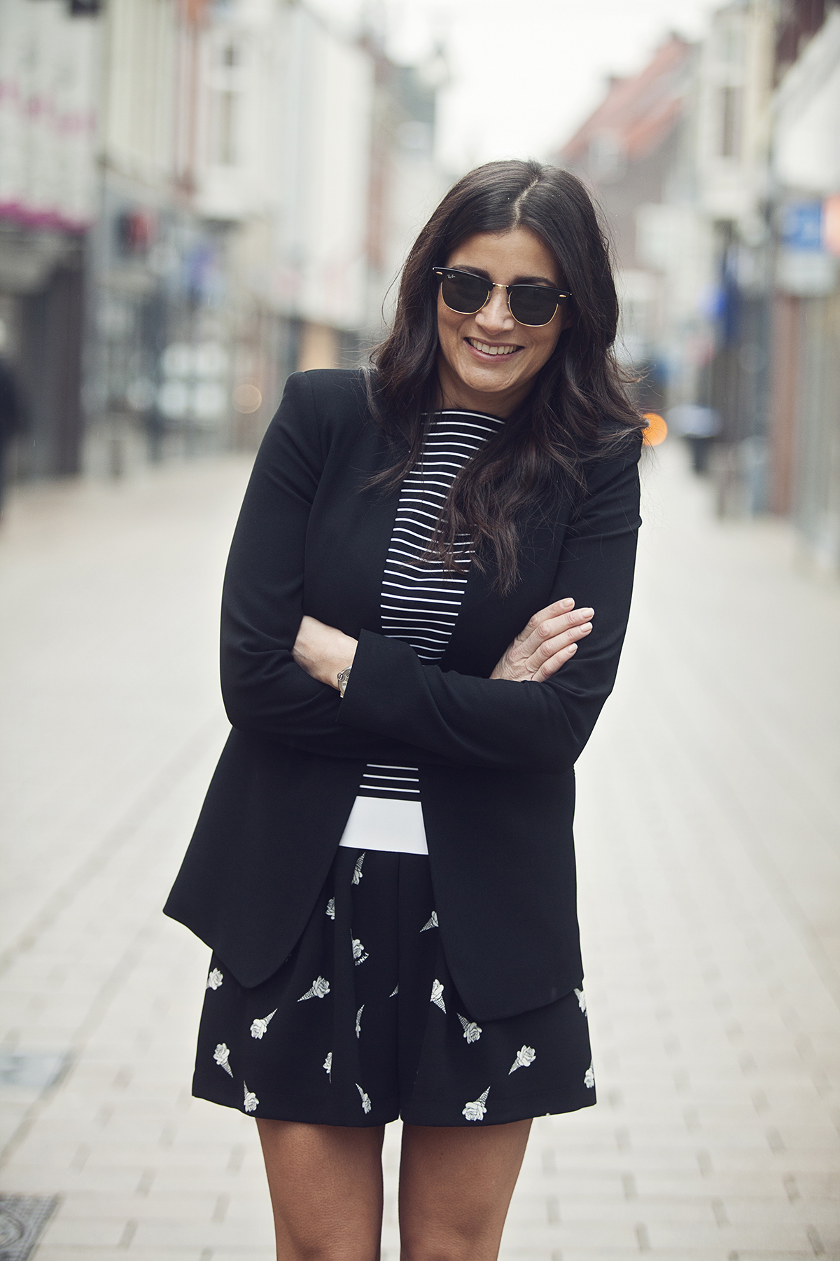 streetstyle look streetphotography stripes and prints Patrizia pepe Pinko Dsquared BlogForShops for jimmy's Tilburg