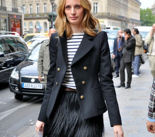 LaurenSantoDomingo Paris Street Style full of Stripes fashion Trend 2015 portraitsofelegance 498x440
