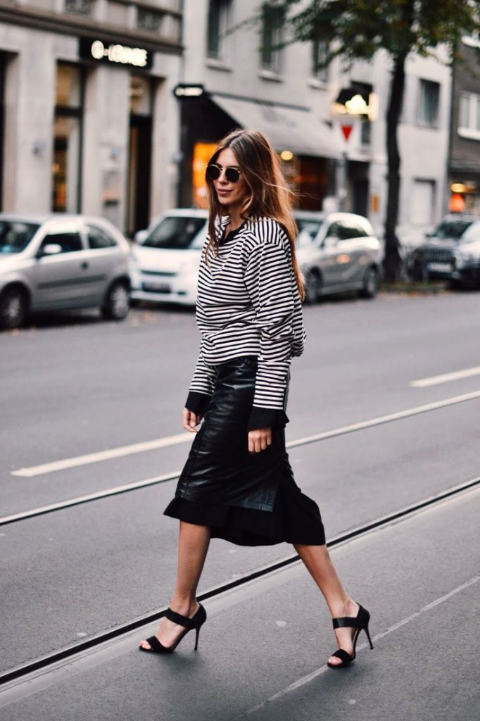 MajaWyh Copenhagen Street Style full of Stripes fashion Trend 2015 portraitsofelegance 682x1024