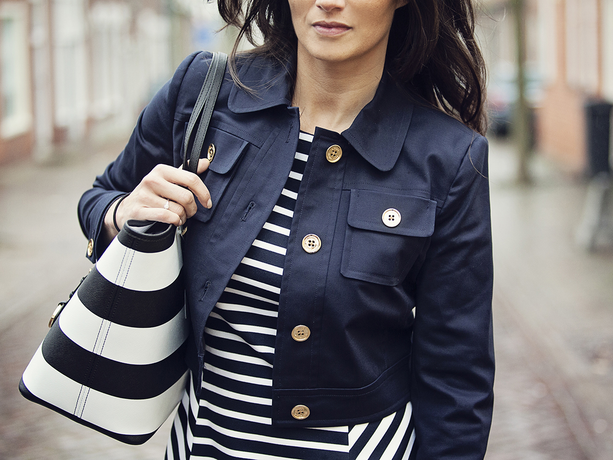 streetstyle fashion 2015 stripes Michael Kors BlogForShops