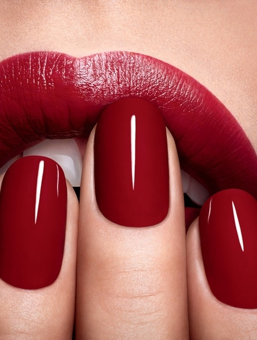 BFS inspo red lips and nails
