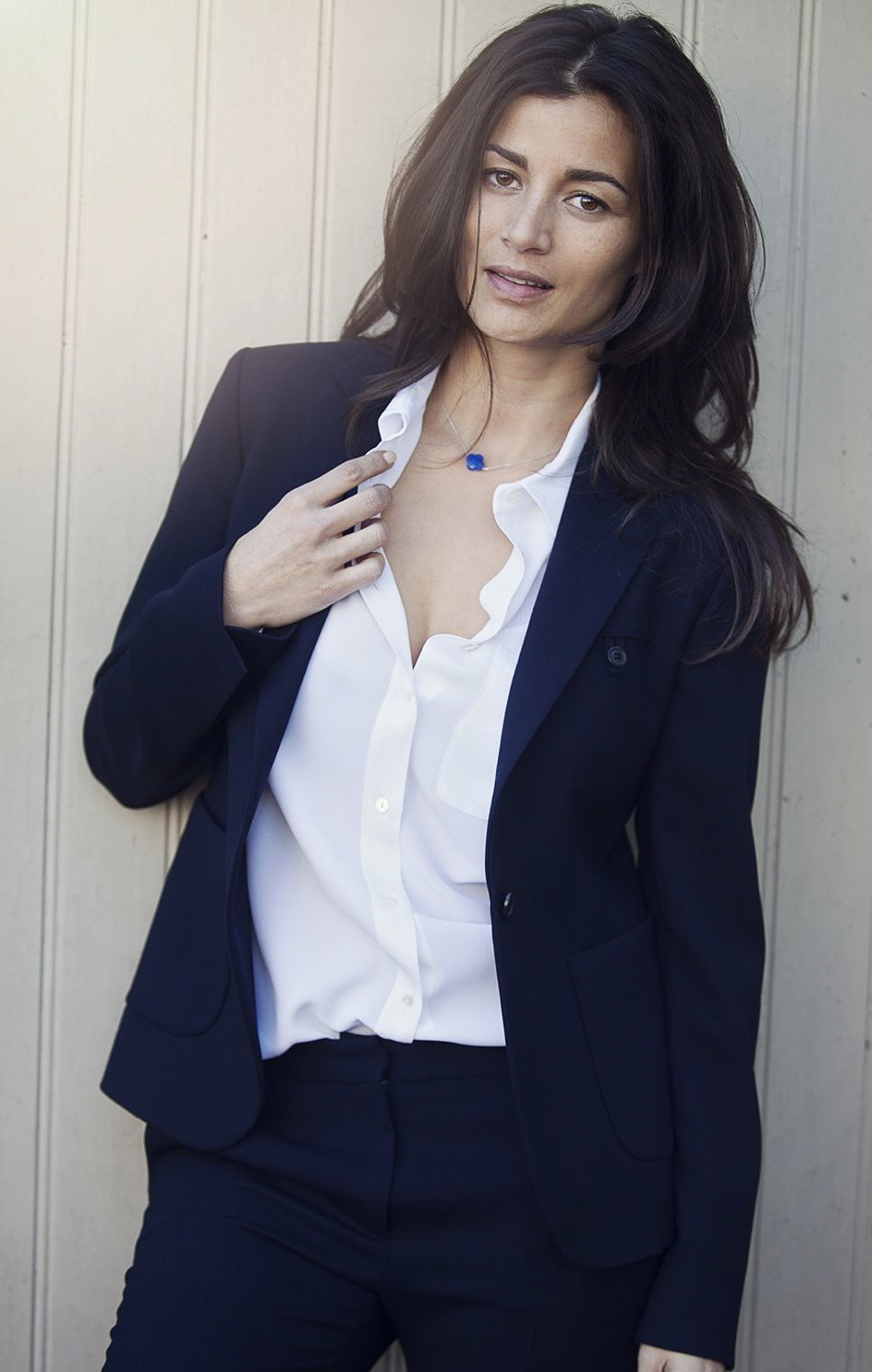 streetstyle look BlogForShops navy suit women fall winter 2014