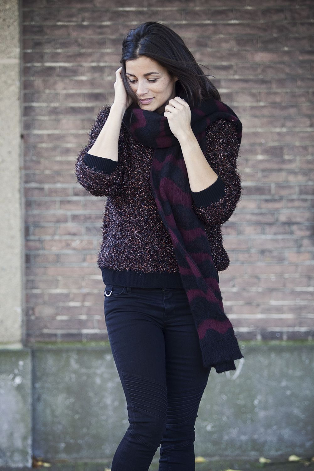 Streetstyle fall winter 2014 lurex knits JBrand