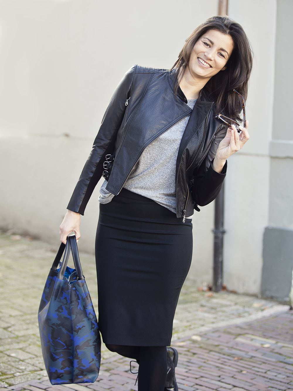 Streetstyle look pencil skirt fall 2014