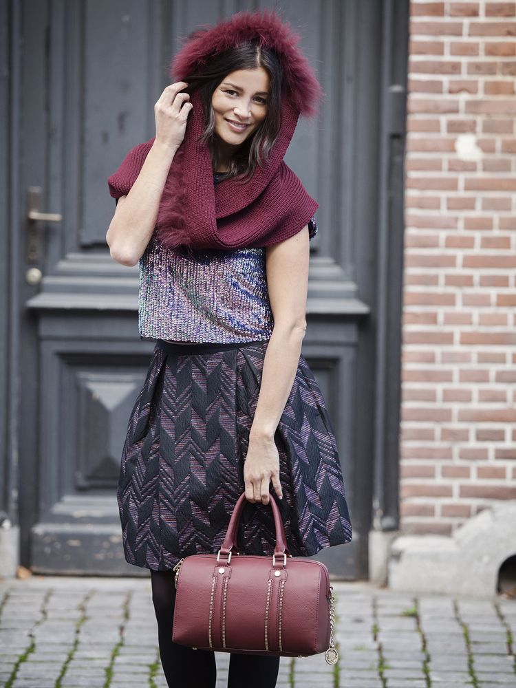 streetstyle burgundy color fall 2014 BFS Jimmy's Mode