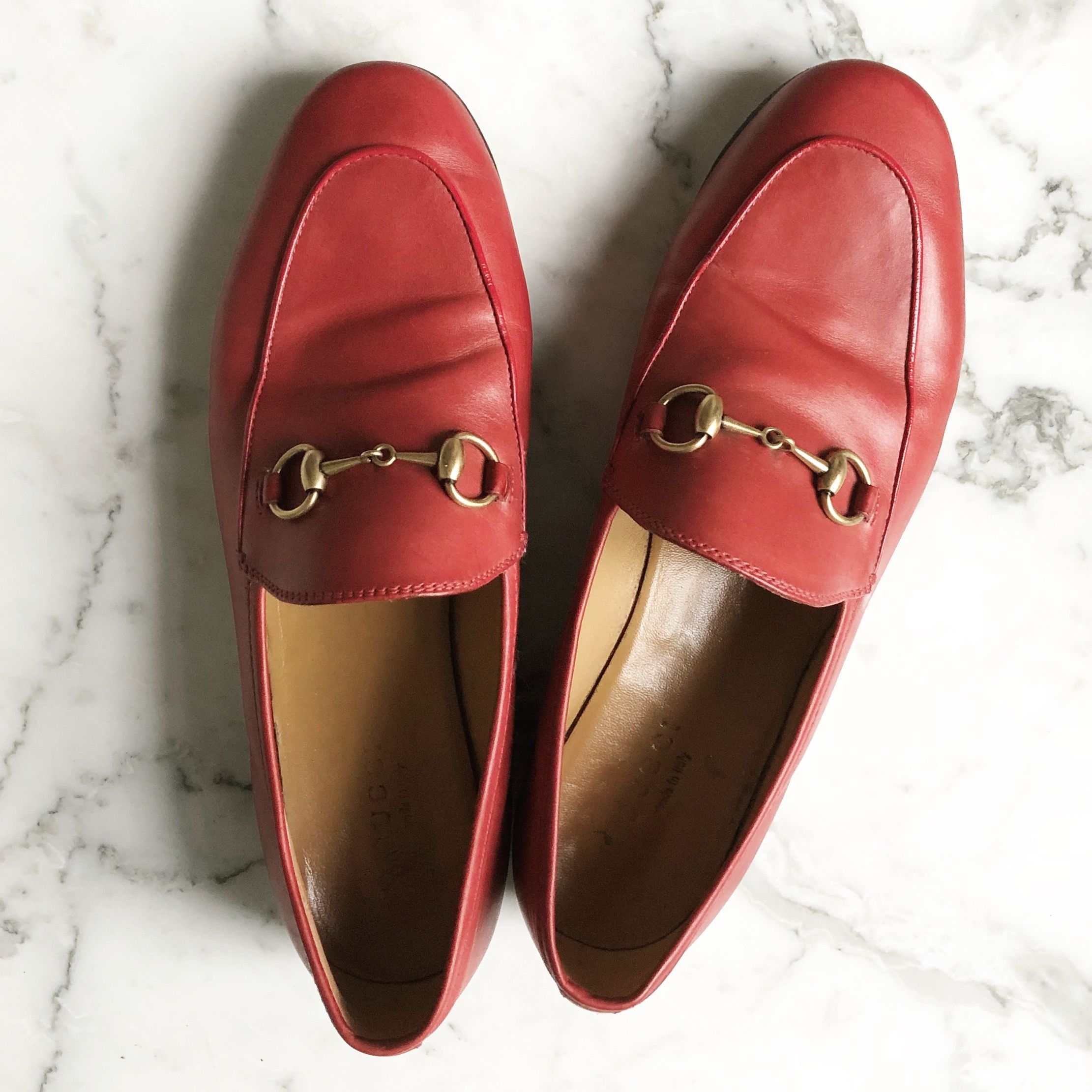 Gucci Jordaan loafers red StylingStories